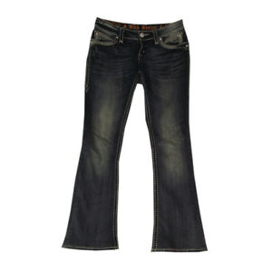 Rock Revival Jeans women size 27 Johanna boot 30 X 31 blue stretch denim pants