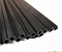 2pcs (1.4-10)x (0.8-8.5)x 500mm Wrapped Carbon Fiber Outer Square Inner Round 3K