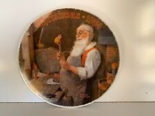 Vintage Edward M. Knowles 8 Inch Collectors Plate Norman Rockwell Christmas 1984