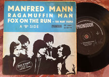 MANFRED MANN - Ragamuffin Man /Fox on the Hunt ISRAEL ONLY Hebrew cover EP ERROR