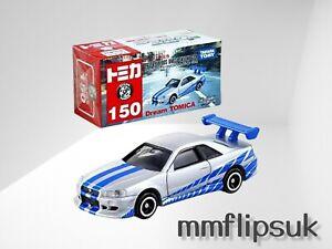 Takara Tomy Dream Tomica No150 Fast & Furious BNR34 Skyline GT-R Diecast Toy Car