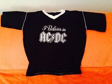 """VINTAGE AC/DC CONCERT SHIRT-LARGE-LATE 70s-EARLY 80s-""""I BELIEVE IN AC/DC"""""""