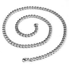 """316L Solid Durable Stainless Steel Cuban Curb Link Chain Necklace 24""""   3 mm"""