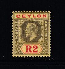 "Ceylon, SG 316cw, MHR (small corner crease) ""Inverted Watermark"" variety"