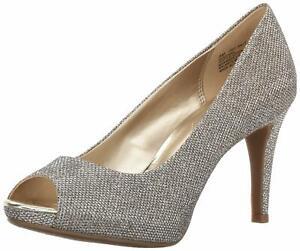Bandolino Womens Rainaa Peep Toe Classic Pumps, Gold Glamour, Size 11.0 GLZf