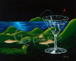 "*Michael Godard-""MAUI ISLAND GOLF""-Martini-Golfing-Art*"