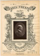 Cliché Quinet, Paris-Théâtre, Pierre-François Villaret (1830-1896), artiste lyri