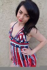 Red White Blue Crochet Halter Top - 4th of July - Patriotic Top - American Flag