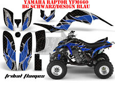 AMR RACING DEKOR GRAPHIC KIT ATV YAMAHA RAPTOR 250/350/660/700 TRIBAL FLAMES B