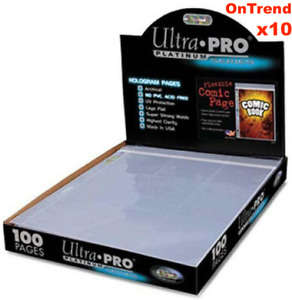 10 x Ultra Pro 1 Pocket Comic Book Sleeves Pages with Resealable Flap