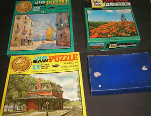 Vintage Jigsaw Puzzles (4) Read Printing Co., Whitman