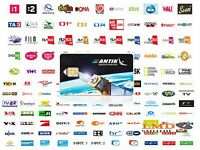 ANTIKSAT Satellite subscription card Slovak and Czech Tv channels on Eutelsat16A