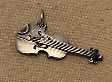 Retired James Avery Violin Charm/Pendant Sterling Silver