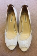 New Benjamin Adams London satin and lace jewelled wedding shoes size 6 UK