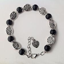 bijoux celtes Bracelet pierres naturelles perles Onyx-perle entrelacs celtiques