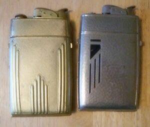 Vintage Evans Case Lighters - Lot Of 2 - Used