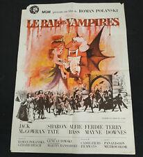 AFFICHE CINEMA ORIGINALE 60/80 LE BAL DES VAMPIRES - ROMAN POLANSKI 1967 ETAT !