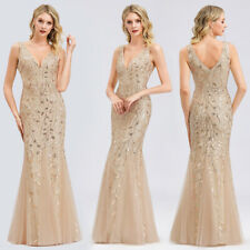 Ever-Pretty US Double V-neck Long Evening Dress Mermaid Cocktail Celebrity Gowns