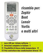 Telecomando climatizzatore aria condizionata Zephir Bent Lenoir Vortis inverter