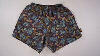 VINTAGE REI MENS Floral Board Shorts FISH SIZE MEDIUM M