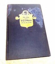 US NAVY USS MAUI IN THE WORLD WAR  ILLUSTRATED c.1919  SCARCE