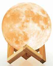"""5.9"""" Rechargeable Glowing Moon Desk Lamp Kids Bed Room Table Globe Night Light"""