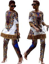 Casual Frauen Damen Anzüge African Dashiki Hippie Tribal Kleid Hosen Top Outfit