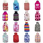 Family Large Hot Water Bottle Flannel Plush Knit Wool Cover Heat Pad Sheath 2L