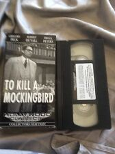 To Kill A Mockingbird VHS Collectors Ed Gregory Peck Duvall Peters
