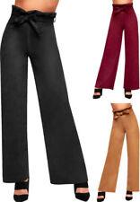 Pantaloni da donna alti multicolore a gamba larga