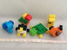 Japan Exclusive IWAKO Building Blocks 6 Animal Set Puzzle Eraser Like Nano block