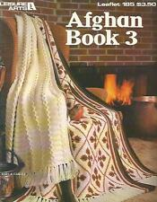 The Afghan Book 3 Vintage 1981 Crochet & Knitting Patterns Leisure Arts #185