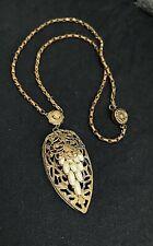 """Pendant Necklace 16"""" J10 Antique Victorian Pearl Flower"""
