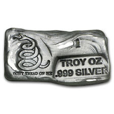1 oz-10 oz Silver Bars - Don't Tread On Me (PG&G, 55 oz total) - SKU #101749