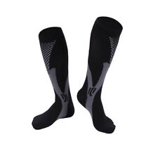 Unisex Leg Support Stretch Running Fitness Anti Fatigue Compression Socks Black XXL