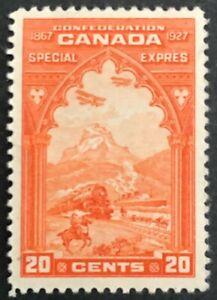 CANADA 1927 # E3 - 20 cent ORANGE - SPECIAL DELIVERY 'CONFEDERATION' ISSUE MH VF