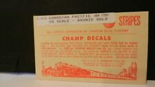 Champ HO Decal Set# S-41B Canadian Pacific Stripes, Bronze Gold, NOS