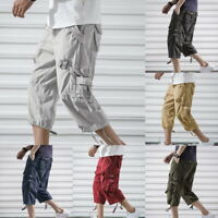 NEW Summer Mens Cargo Combat Outdoor Male Shorts Baggy Loose Casual Work Pants