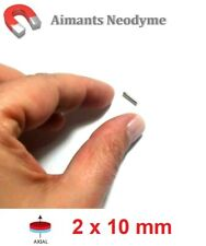 Lot aimants cylindre 2X10mm Très Puissant Neodyme N35 : Fixation, Magnet, Fimo..