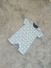 Stunning Baby Boy Summer Romper Outfit Blue 9-12 cool dude blue stripes B