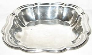 """VINTAGE SHEFFIELD SILVERPLATE 10 1/4"""" SQUARE SCALLOPED SERVING BOWL***U.S.A.***"""