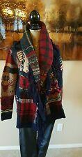 Polo Ralph Lauren Indian Chief Flag Patch Sz M Sweater Cardigan Women THESPOT917