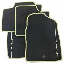 New Genuine Fiat 500 Floor Carpet Mats Set Of 4 Black + Ivory Edge 71803949
