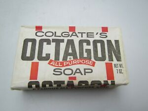 """Vintage """" COLGATE'S OCTAGON """" All Purpose Soap 7oz Bar New Old Stock"""