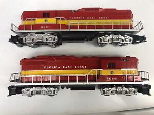 Lionel Florida East Coast GP-9 Diesel Locomotives Power and Dummy NIB