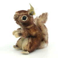 Steiff Perri Squirrel Disney Mohair Plush 12cm 5in ID Button Tags 1960s WDP Vtg