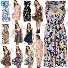 Unbranded V-Neck Floral Sleeveless Dresses for Women