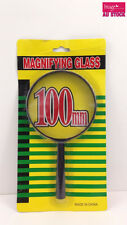 100mm Magnifying Glass with Black Plastic Handle and Rim TXK 0252