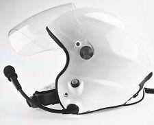 Highly noise cancle double PTT control paramotor helmet PPG helmet White helmet