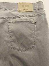Brax 38 x 30 Hi-Flex Cooper Fancy Pants Regular Fit Gray 5 Pocket Chinos